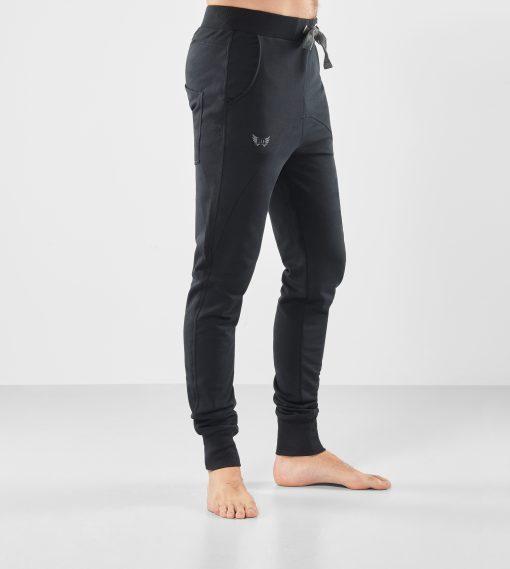 Zwarte Yoga Broek Arjuna - Urban Black voor heren