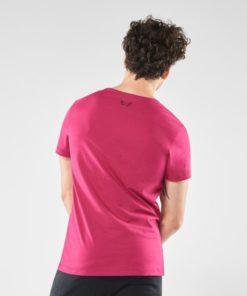Organic Mens Yoga T-shirt Moksha - Marsala spice