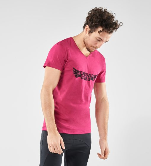 Mannen Yoga t-shirt Moksha Marsala Spice model1