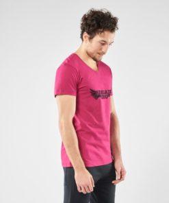 Mens Organic Yoga t-shirt moksha - Marsala Spice