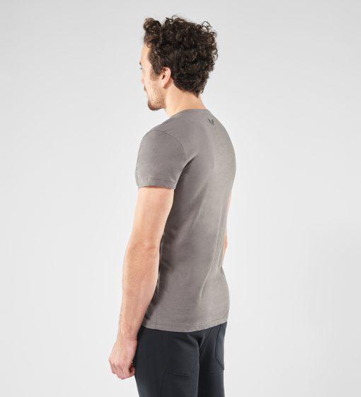 Grijze heren Yoga t-shirt Moksha