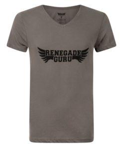 Mens Yoga T-shirt Moksha with Renegade Guru yoga wear print