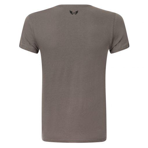 Heren Yoga t-shirt Moksha in grijs met print