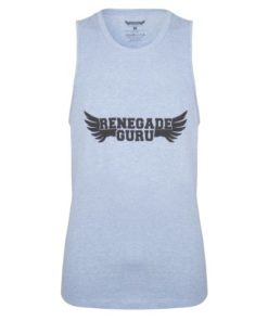 Heren Yoga Tank Moksha - Blue Skies van Renegade Guru