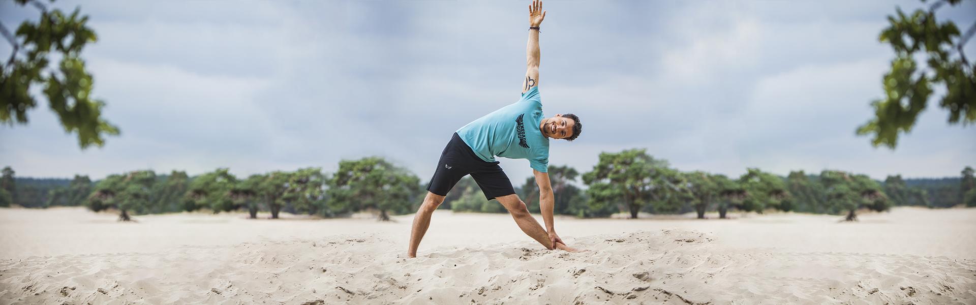 Banner RG 2018 - Bodhi yoga shorts met de Moksha yoga tee