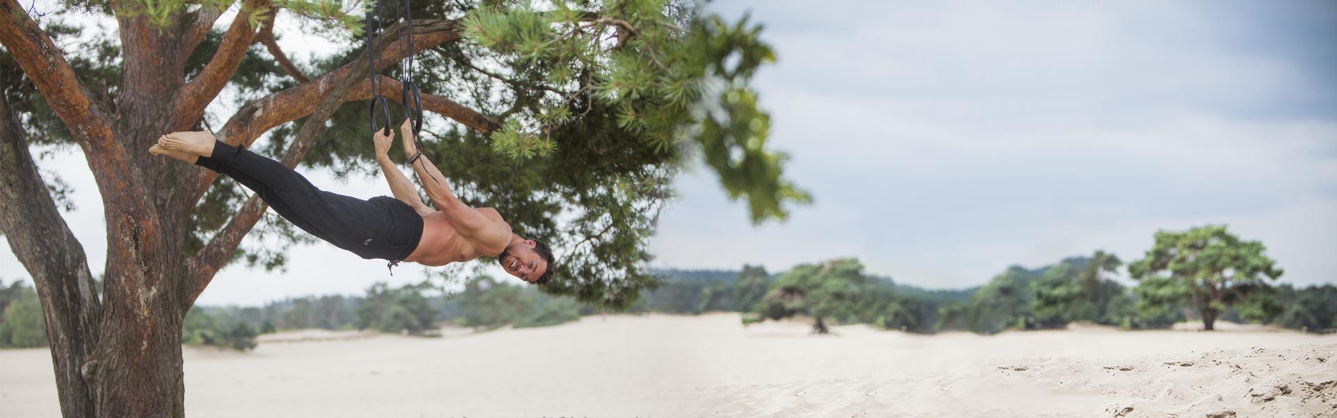 Arjuna yoga broek voor mannen in Urban Black