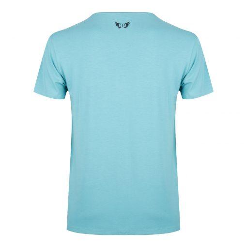 Moksha yoga t-shirt - Sea Green van biologisch katoen