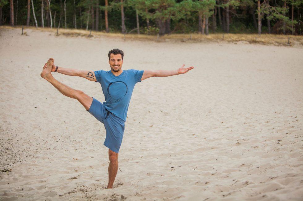 Mens yoga t-shirt Moksha ZEn and Yoga Shorts Bodhi