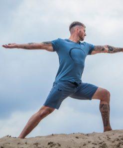 Yoga Tee Moksha and Yoga Shorts Bodhi - Green Earth