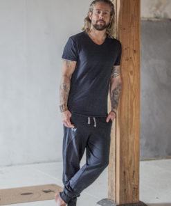 Bamboe Shirt voor Heren - Moksha Tee Urban Black - Renegade Guru